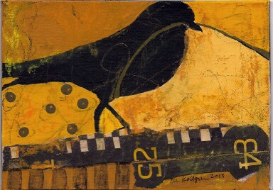 Black Bird with Numbers by Mary Lue Kellgren