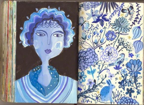 Blue Lady illustration