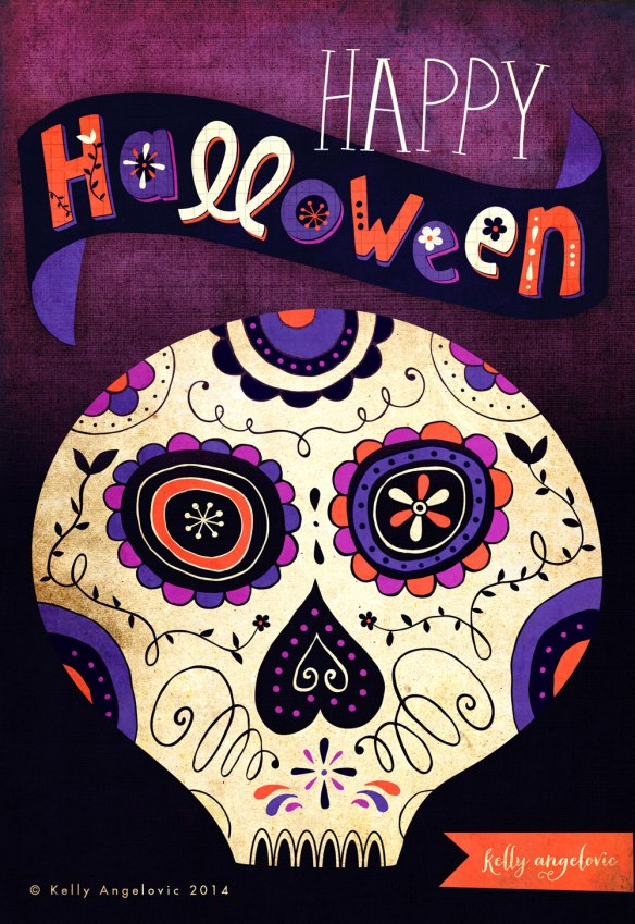 Halloween Skull Illustration