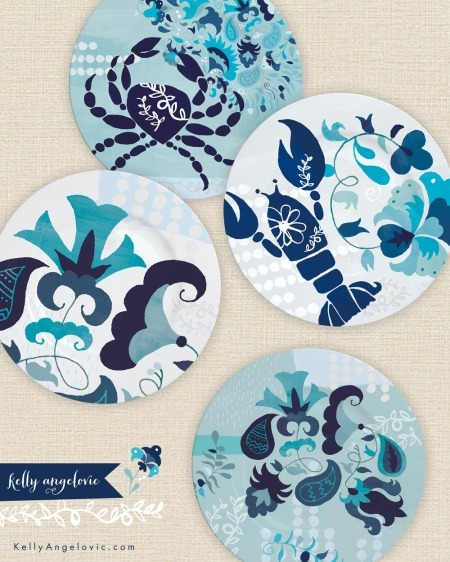 Ocean Garden Dinnerware Collection_Kelly Angelovic